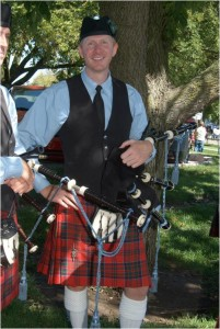 Pipe and kilt